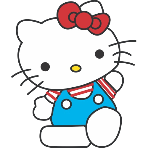 Hello Kitty DIY decals stickers version 17